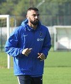 Trabzonspor'da Burak takımla çalıştı