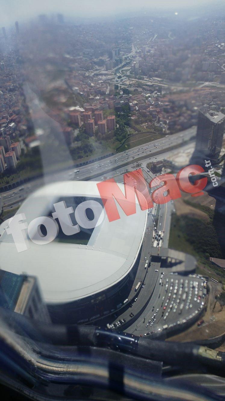 Galatasaray-Beşiktaş derbisi öncesinde Türk Telekom Arena'nın havadan görüntüleri
