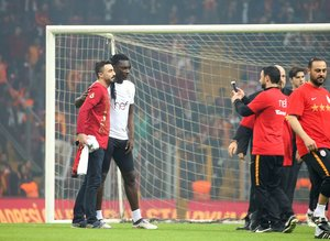 Galatasarayın tarihi antrenmanından kareler
