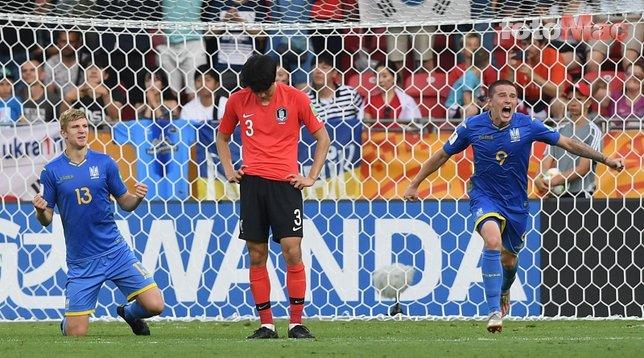 Ukrayna - Güney Kore maçından kareler...
