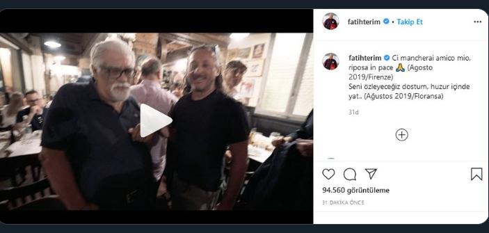Fatih Terim'den İtalyan gazeteci Rialti için duygusal paylaşım! - Futbol -