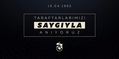 Trabzonspor'da taraftarlar için anma mesajı