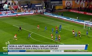 Son 6 haftanın kralı Galatasaray