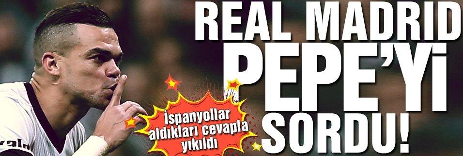 Real Pepe'yi sordu