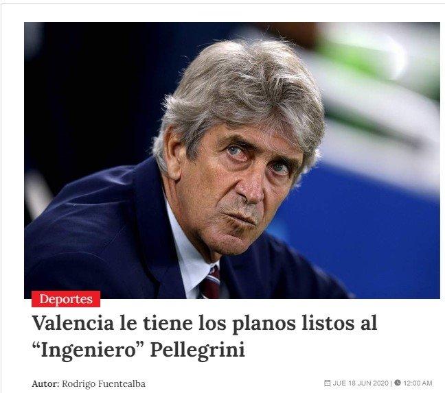 manuel pellegrini icin flas iddia fenerbahce derken 1592563752156 - Manuel Pellegrini için flaş iddia! Fenerbahçe derken...