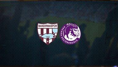 Bandırmaspor - Keçiörengücü maçı ne zaman, saat kaçta ve hangi kanalda canlı yayınlanacak? | TFF 1. Lig