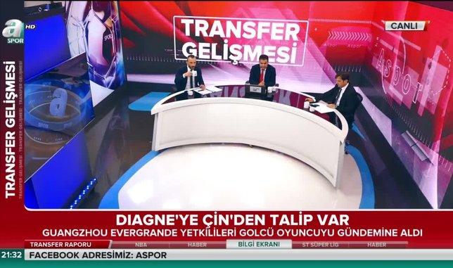 Galatasaray'ın golcüsü Diagne'ye Çin'den talip var!