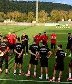 A Milli Takım, İsveç maçının hazırlıklarını sürdürdü