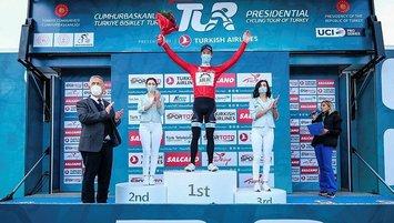 Konya'daki 56'ncı C.Başkanlığı Bisiklet Turu ilk ayağını kazanan De Kleijn