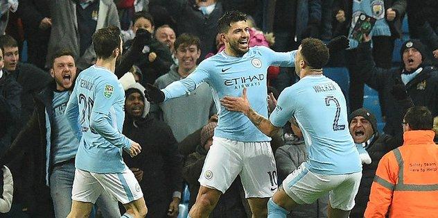 Manchester City, Kupa'da avantajı yakaladı