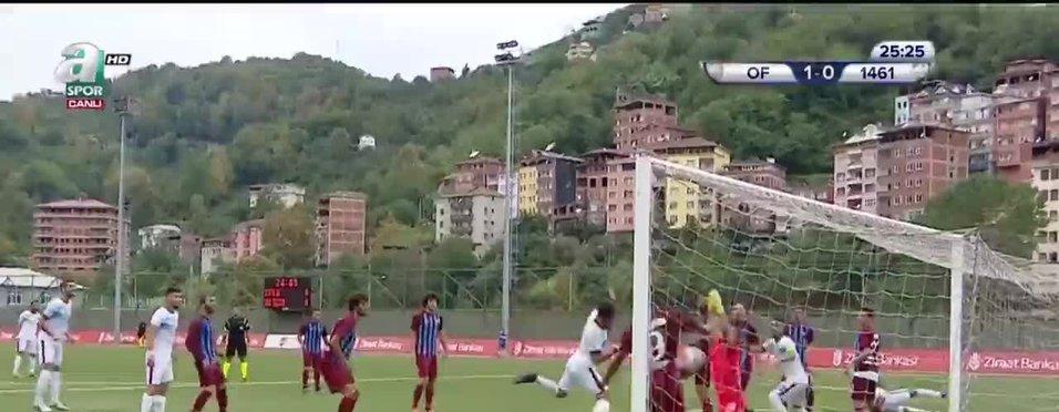 Ofspor 1 - 0 1461 Trabzon ( Ali Sinan Gayla -  25')