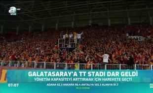 Galatasaray'a TT Stadı dar geldi