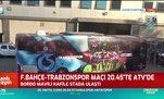 Trabzonspor kafilesi stada ulaştı! İşte o görüntüler