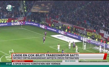 Ligde en çok bileti Trabzonspor sattı