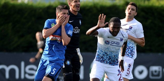 Trabzonspor'dan tatsız prova