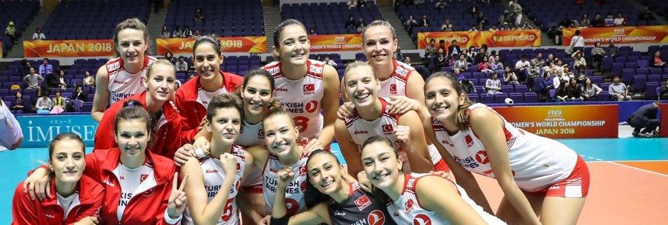 Türkiye Kadınlar Voleybol Şampiyonasında Kübayı 3-1 yendi