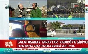 Galatasaray taraftarı Kadıköy'e hareket etti