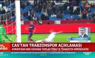 CAS'tan Trabzonspor açıklaması