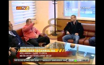 Sneijder ve Fatih Terim, Floryada buluştu