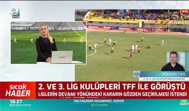 Volkan Can: Büyük ihtimalle 2. ve 3. Lig'de kalan maçları oynamayacağız