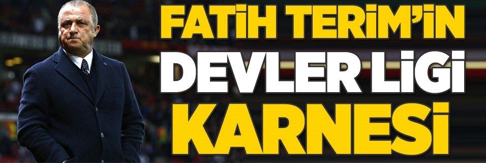 Fatih Terim'in Şampiyonlar Ligi karnesi