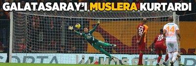 Galatasaray'ı Muslera kurtardı!