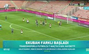 Trabzonspor'da Ekuban, skora verdiği katkıyla ön planda
