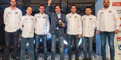 Avrupa ralli şampiyonları zaferini kutladı
