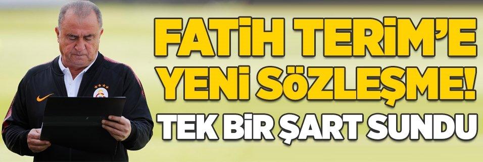 Fatih Terim'e yeni sözleşme! Tek bir şart sundu