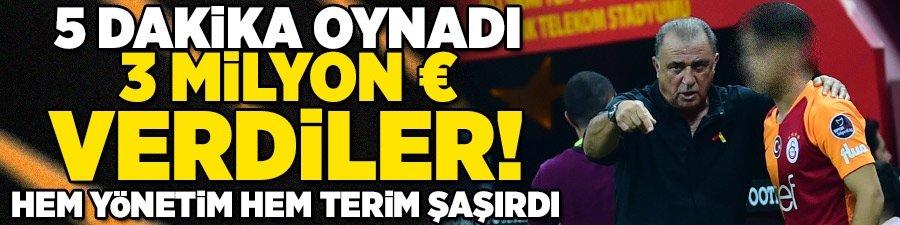 Hem yönetim hem Terim şaşırdı! 5 dakika oynadı 3 milyon Euro verdiler