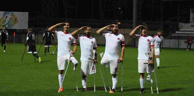 Ampute Milli Takımı, Gürcistan'ı 9-0 mağlup etti