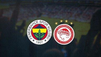 Fenerbahçe - Olympiakos maçı ne zaman? Fenerbahçe Avrupa ligi maçı saat kaçta ve hangi kanalda canlı yayınlanacak? Bilet fiyatları ne kadar? | CANLI SKOR