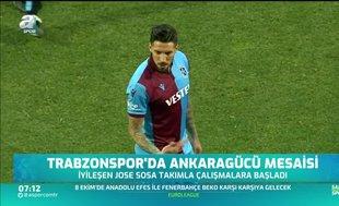 Trabzonspor'da Jose Sosa sevinci