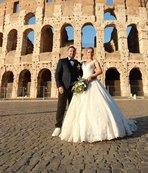 Roma'da evlendiler!