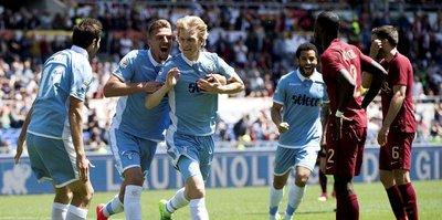 Roma'nın umutlarını Lazio söndürdü!