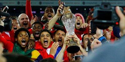 Spartak Moskova kupasını aldı