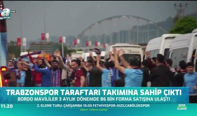Trabzonspor taraftarı takımına sahip çıktı