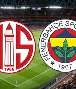 Antalyaspor - Fenerbahçe | CANLI