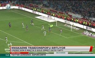 Nwakaeme Trabzonspor'u sırtlıyor