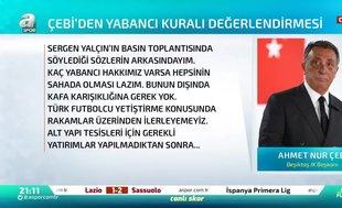 Ahmet Nur Çebi'den çarpıcı öneri! Yabancı sınırı...