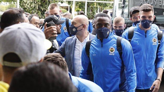 Fenerbahçe Eintracht Frankfurt maçı için Almanya'ya geldi