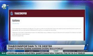 Trabzonspor'dan TL'ye destek