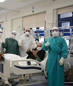 100 yaşındaki hasta corona virüsünü yendi