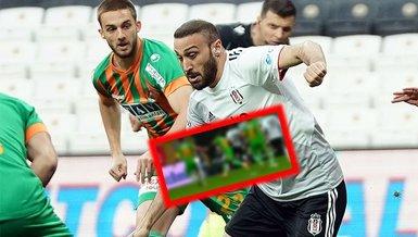 İşte Beşiktaş'ın Alanyaspor maçında Cenk Tosun ile penaltı beklediği pozisyon!