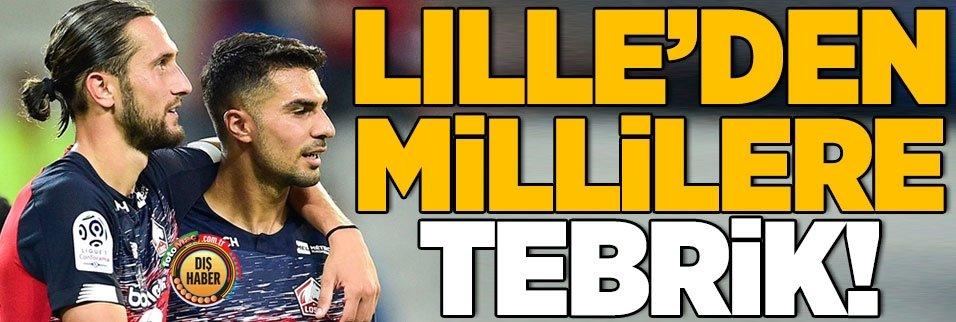 Lille'den Türk yıldızlara tebrik!