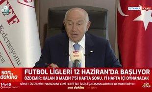 Nihat Özdemir'den Türkiye Kupası maç takvimi açıklaması