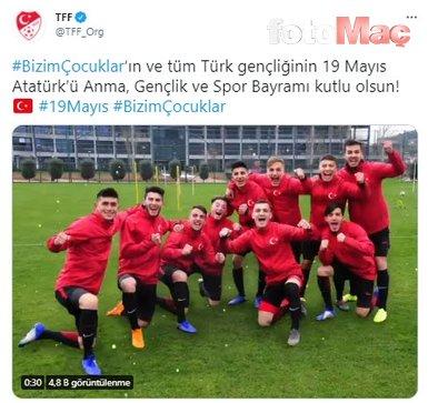 Süper Lig ekiplerinden 19 Mayıs Atatürk'ü Anma Gençlik ve Spor Bayramı paylaşımları