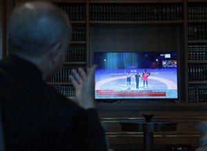 Başkan Erdoğan şampiyon Rıza Kayaalp'i böyle izledi