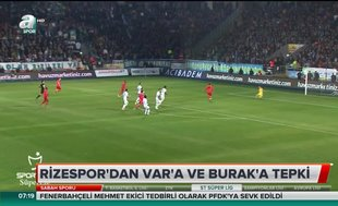 Rizespor'dan VAR'a ve Burak Yılmaz'a tepki