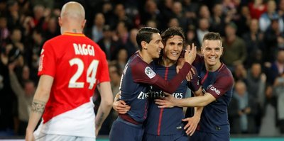 Monaco'yu 7-1 yenen PSG Fransa'da şampiyonluğunu ilan etti